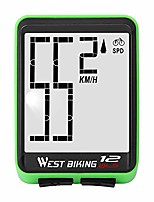 cheap -bike computer wireless, cycling speedometer odometer large digits automatic speed display change, waterproof el backlight bicycle computers