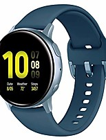 cheap -compatible with galaxy watch active 2 bands 40mm 44mm, galaxy watch active band, galaxy watch 42mm band, 20mm watch band sport silicone replacement wristband women men, large, slate#1