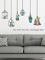 cheap -Floral / Botanical Wall Stickers 3D Wall Stickers Decorative Wall Stickers, PVC Home Decoration Wall Decal Wall Decoration 2pcs