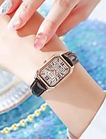 cheap -Women's Quartz Watches Quartz Glitter Elegant Water Resistant / Waterproof Analog Black Purple Red / One Year / PU Leather