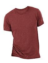 cheap -canvas mens triblend crew neck plain short sleeve t-shirt (xs) (cardinal triblend)