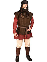 cheap -Knight Ritter Medieval Renaissance Masquerade Vest Men's Costume Brown Vintage Cosplay Party Halloween Sleeveless