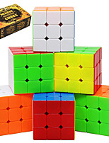 cheap -Speed Cube Set 6 pcs Magic Cube IQ Cube 3*3*3 Speedcubing Bundle 3D Puzzle Cube Stress Reliever Puzzle Cube Stickerless Smooth Office Desk Toys Pyramid Kid's Adults Toy Gift