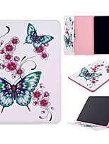 cheap -Case For Apple iPad Pro (2020) 11'' iPad 7 (2019) 10.2'' iPad Air 3 (2019) 10.5'' Wallet Card Holder with Stand Full Body Cases Peach Butterfly PU Leather TPU for iPad 5 (2017) 9.7'' iPad 6 (2018) 9.7