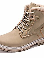 cheap -women's round toe waterproof lace up work combat boots low heel ankle booties (white, 36)