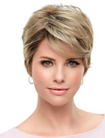 cheap -Synthetic Wig kinky Straight Asymmetrical Wig Short Brown Synthetic Hair Women's Fashionable Design Exquisite Comfy Brown