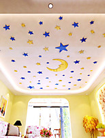 cheap -Stars Wall Stickers Mirror Wall Stickers Decorative Wall Stickers, Acrylic Home Decoration Wall Decal Wall Decoration 60pcs / 5pcs
