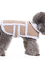 cheap -small dog winter coat - shearling fleece dog warm coat for small to medium breeds dog tan