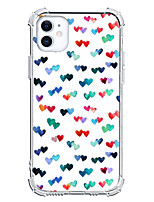 cheap -Heart Case For Apple iPhone 12 iPhone 11 iPhone 12 Pro Max Unique Design Protective Case Shockproof Back Cover TPU