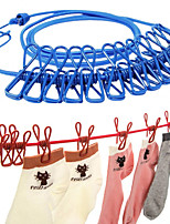 cheap -180cm Multifunction Drying Rack Clothes Line With 12 Clips Cloth Hangers Steel Clothes Line Pegs Portable Travel Clothesline