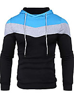 cheap -autumn fashion hoodies color block hooded pullover sport sweatshirt clothes for junior(light blue,medium)