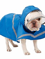 cheap -raincoat for dogs - lightweight dog rain jacket with hood - adjustable dog raincoats for small medium large dogs, breathable dog rain coats with safe reflective stripes - 100% polyester | water proof