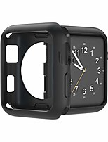 cheap -compatible with apple watch case 38mm 42mm 40mm 44mm, soft tpu shockproof and shatter-resistant protective bumper cover iwatch series 5 4 3 2 case (black, 38mm series 2/3)