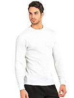 cheap -men's classic waffle-knit medium weight thermal top (s, white)
