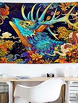 cheap -colorful monster japanese meticulous painting bless deer god tapestry wall hanging for bedroom living room home décor polyester,80w x 60l inches 1497