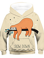 cheap -Kids Boys' Active Basic 3D Animal Drawstring Long Sleeve Hoodie & Sweatshirt Beige