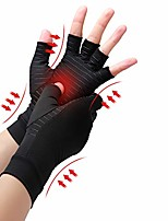 cheap -copper compression arthritis gloves, best copper infused glove for women and men, fingerless arthritis gloves, pain relief and healing for arthritis, carpal tunnel, 1 pair, black (medium)