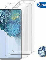 "cheap -3-pack galaxy s20 ultra screen protector, tpu flexible, hd transparent [self healing] [compatible fingerprint sensor] for samsung galaxy s20 ultra (6.9"")"