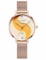 cheap -women's watch waterproof, mini focus stainless steel case and mesh strap quartz watch for women fashin wristwatch (rose gold)