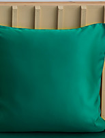 cheap -2 pcs Water Washed Silk Pillow Cover, Solid Colored Square Traditional Classic