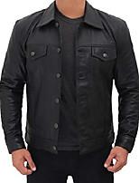 cheap -man leather jackets - trucker jacket men   [1107327] black frnando, xxxl