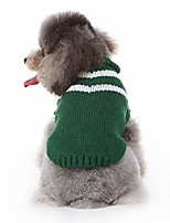 cheap -dog sweaters knitted small pet cat sweater warm dog sweatshirt dog winter clothes kitten puppy sweater clothes green