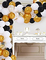 cheap -balloon garland black and gold 138 pcs balloons garland arch kit with golden confetti black gold and white balloons party supplies decorations for 30th 50th 60th birthday party graduation prom