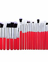 cheap -start 25pcs/sets makeup brush set for eye shadow foundation eyebrow lip sapphire wooden cosmetic makeup brush with bag (red)