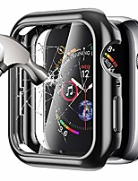 cheap -tempered glass screen protector compatible for apple watch series 3 42mm, soft tpu bumper case slim easy install touch accessories overall protective cover for iwatch series 3/2/1 black