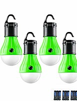 cheap -led camping lantern, 4 pack portable outdoor tent light emergency bulb light for camping, hiking, outage, fishing, outdoors & indoors emergency lighting, battery powered(include)