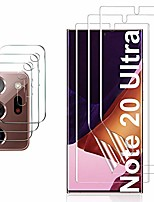 cheap -for samsung galaxy note 20 ultra screen protector and camera protector, [3 screen protector+3 camera protector][support fingerprint] tpu screen protector for samsung galaxy note 20 ultra (transparent)