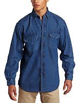 cheap -key industries men's premium enzyme washed long sleeve denim shirt big/tall, 4xl-regular