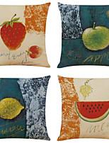 cheap -2pcs Cushion Cover Oil Painting Fruit Cotton Linen Car Pillowcase