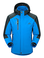 cheap -Men's Windbreaker Hiking Jacket Summer Outdoor Thermal Warm Windproof Breathable Sweat-Wicking Camping / Hiking Hunting Climbing Red / Blue / Green / Dark Navy