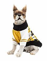 cheap -pet clothes the diamond plaid cat dog knit sweater,dog accessories,winter coat dog apparel,pet sweatshirt yellow m