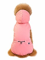 cheap -casual pet dog clothes classic four-legged cotton coat warm outdoor/indoor hoodies sweatshirts pullover pink