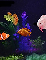 cheap -Fish Tank Aquarium Decoration Fish Bowl Artificial Fish Rainbow Cute Special Material 4 Pieces 2 cm