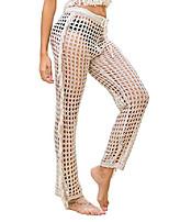 cheap -womens elastic waist wide leg palazzo trousers fringe pants lounge pants swim wear coverup