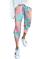 cheap -women casual elastic waist front drawstring pants tie dye printed jogger pants b multicolor 1 medium