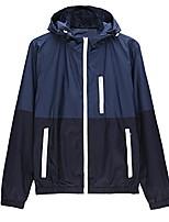 cheap -men's contrast zip front-zip jacket medium dark blue