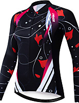 cheap -21Grams Women's Long Sleeve Cycling Jacket Winter Black Bike Jacket Mountain Bike MTB Road Bike Cycling Sports Clothing Apparel / Stretchy