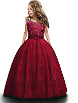 cheap -Princess Dress Party Costume Flower Girl Dress Girls' Movie Cosplay Princess White / Purple / Red Dress Children's Day Masquerade Polyester