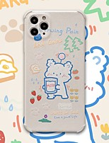 cheap -Case For iPhone 11 Shockproof Back Cover Solid Colored / Cartoon TPU For Case 7/8/7P/8P/X/XS/XS MAX/SE 2020/11 PRO/11PRO MAX