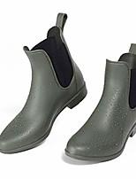 cheap -women& #39;s ankle rain boots waterproof non-slip short rain booties chelsea boots(matte green)