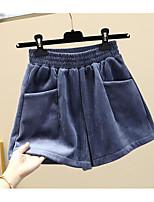 cheap -Women's Basic Breathable Slim Daily Shorts Pants Solid Colored Short High Waist Black Blue Khaki