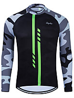 cheap -WECYCLE Men's Women's Long Sleeve Cycling Jersey Winter Black Camo / Camouflage Bike Top Mountain Bike MTB Road Bike Cycling Breathable Sports Clothing Apparel / Stretchy / Athletic