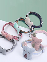 cheap -Dog Pets Collar Adjustable Cute and Cuddly Outdoor Walking Cartoon Polyester Small Dog Khaki Green 1pc