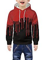 cheap -Kids Boys' Active 3D Graphic Print Long Sleeve Hoodie & Sweatshirt Red