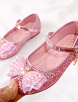 cheap -Girls' Flats Comfort / Flower Girl Shoes / Princess Shoes Patent Leather / PU Little Kids(4-7ys) Walking Shoes Crystal / Bowknot / Pearl Pink / Silver Spring / Fall / Party & Evening