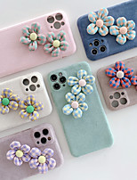 cheap -Case For iPhone 11 Shockproof Back Cover Solid Colored / Flower TPU For Case 7/8/7P/8P/X/XS/XS MAX/SE 2020/11 PRO/11PRO MAX